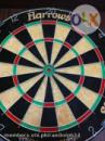 Harrows dart board with Robson wood cabinet